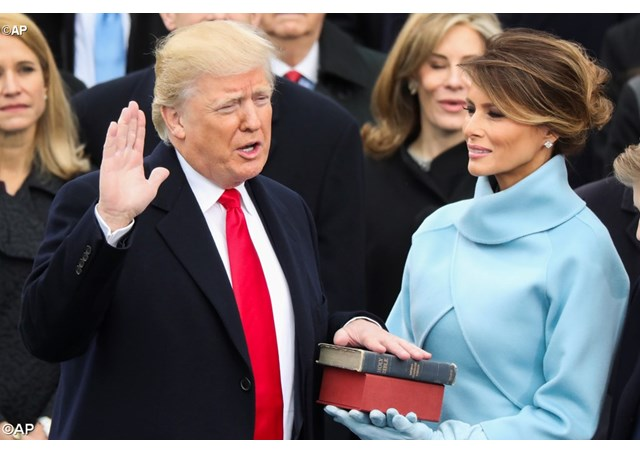 Donald Trump is sworn in as the 45th President of the United States in Washington, DC. - AP