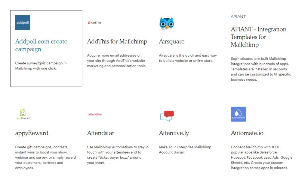 Mailchimp integrazioni shopify