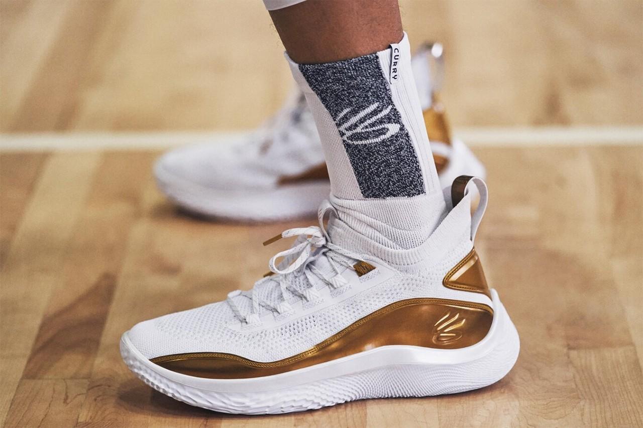 """Curry 8 Golden Flow"" รองเท้าบาสเกตบอลประจำตัวของ Stephen Curry 03"