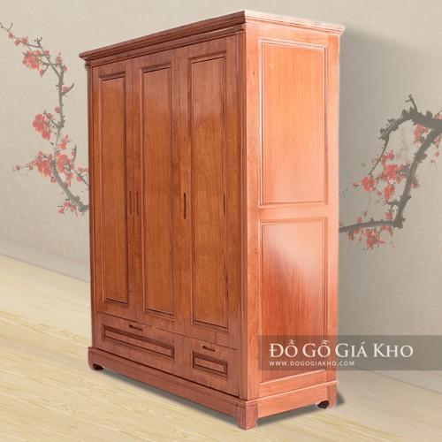 7 mẫu tủ áo gỗ xoan đào được mua nhiều nhất 2019