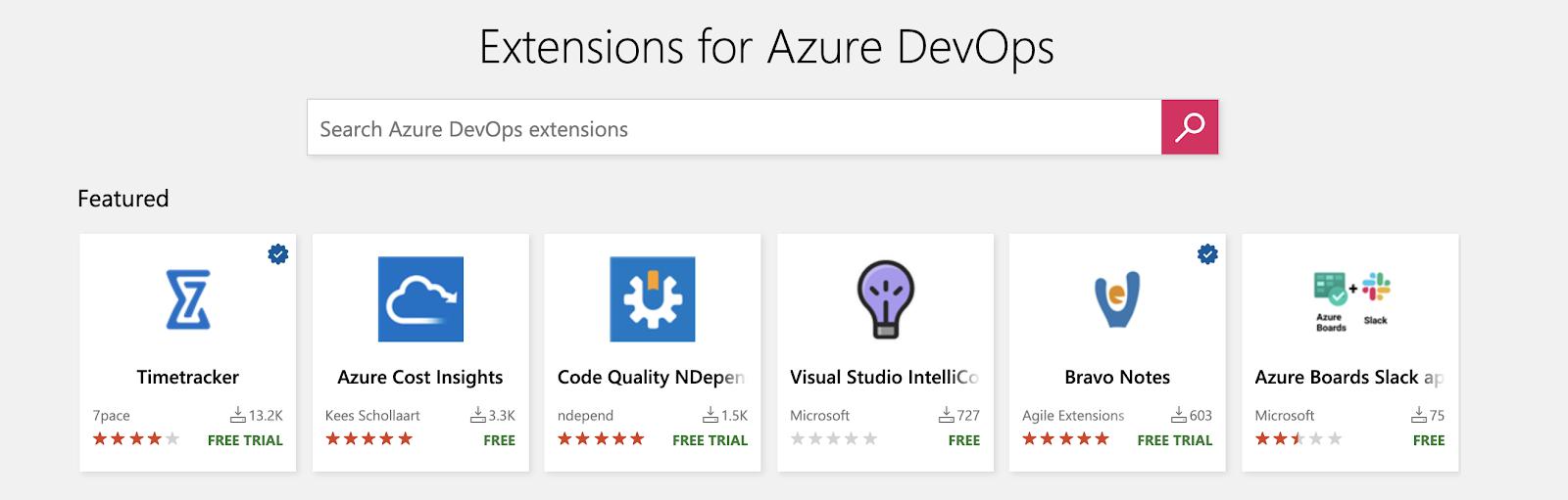Azure DevOps extensions library