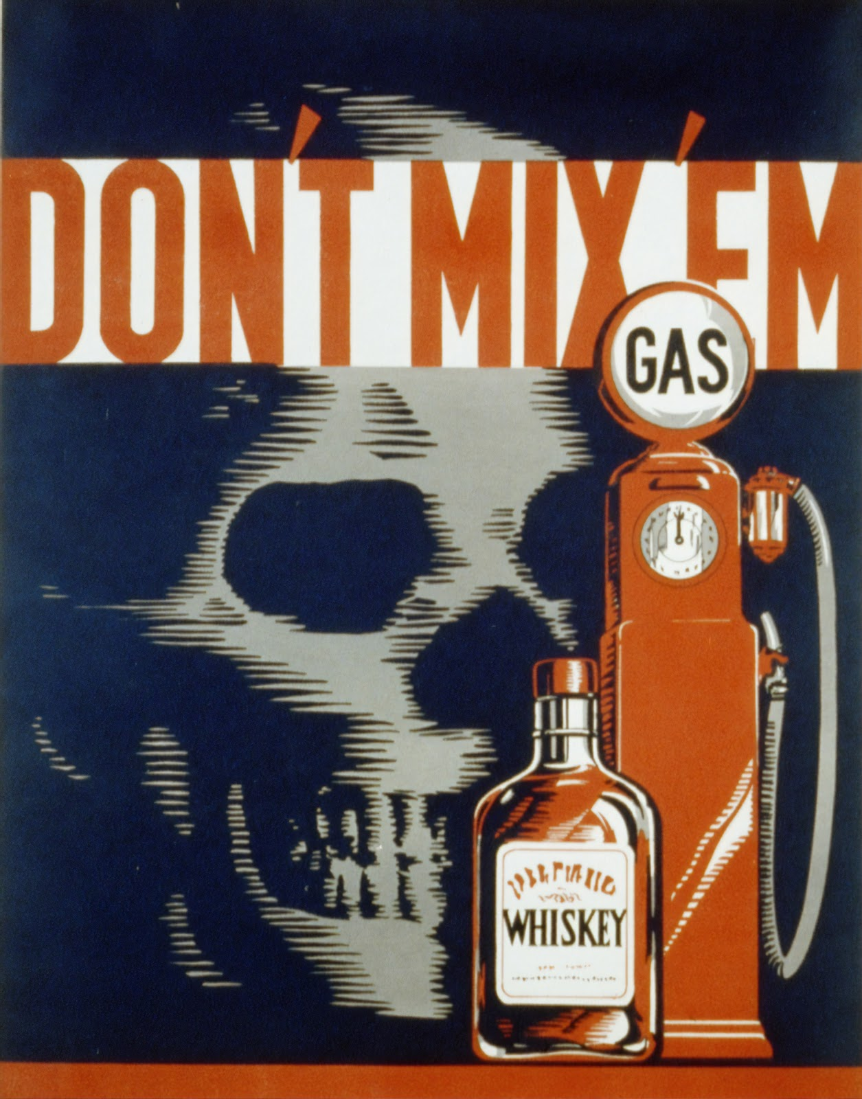 """A """"Don't Mix Em"""" propaganda poster from the Library of Congress."""
