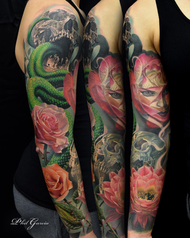 795da72fb If you're looking to get insanely detailed, hyper-realistic color tattoos,  then Phil Garcia is your guy. Based in Port Hueneme, CA, this legendary  tattooist ...