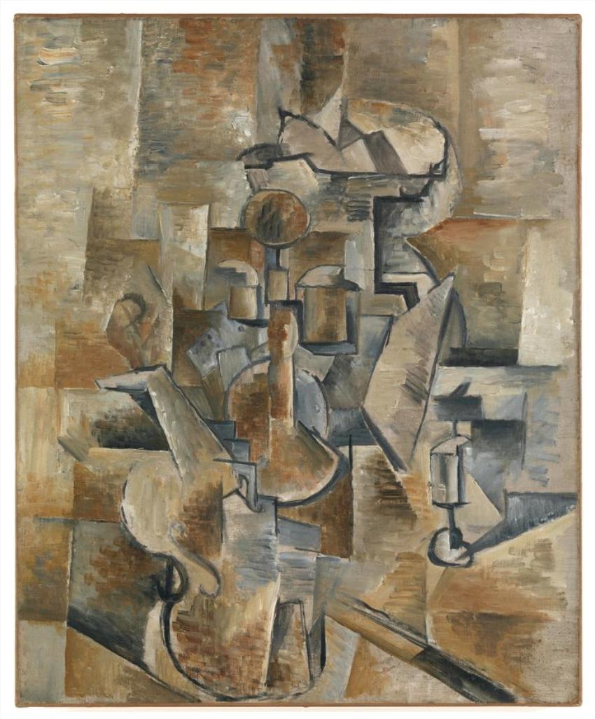 Georges Braque  Nature Morte (Violon et compotier) (Still Life (Violin and Candlestick))