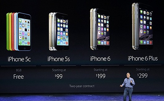 На презентации Apple - IPhone 6