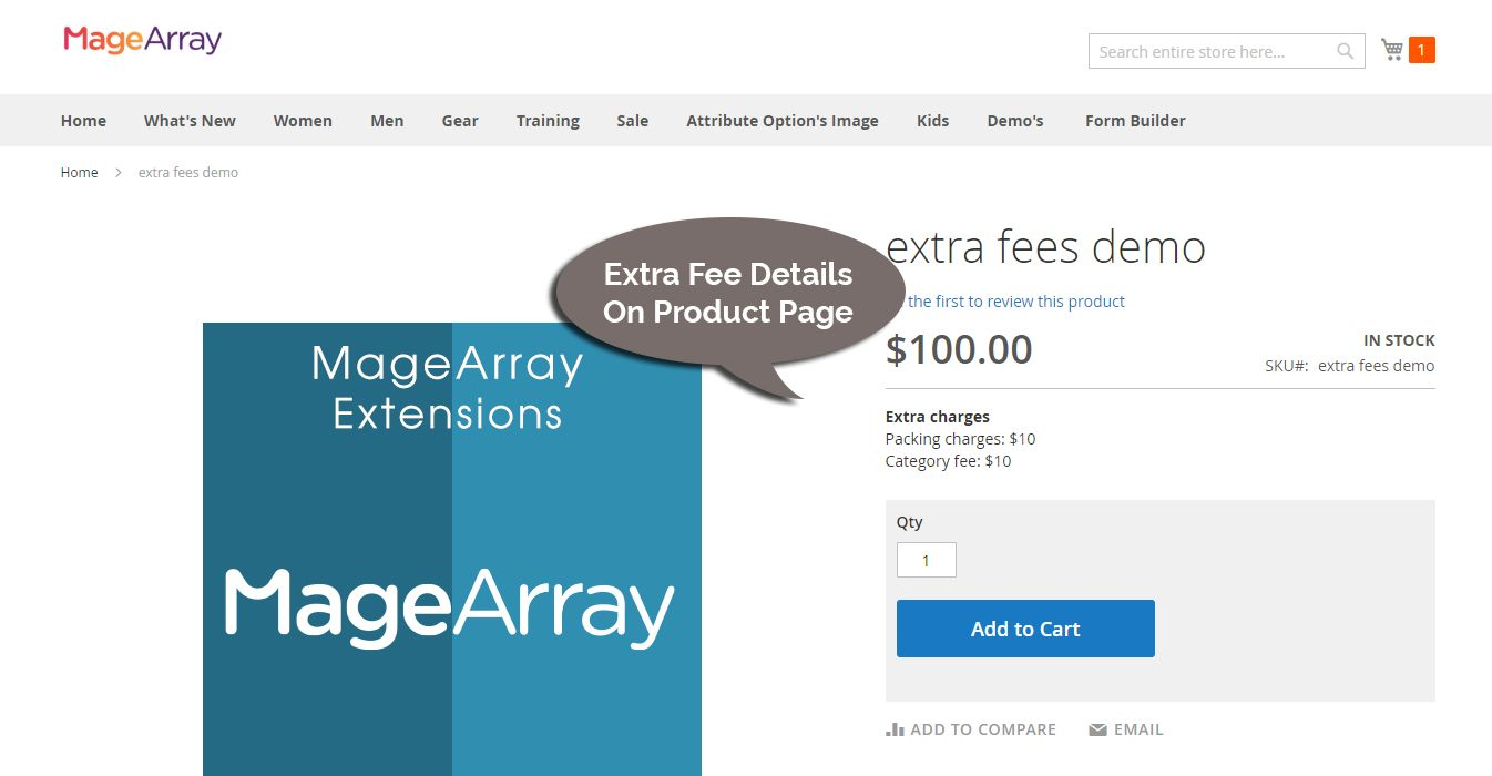 awesome Magento extra fee extension
