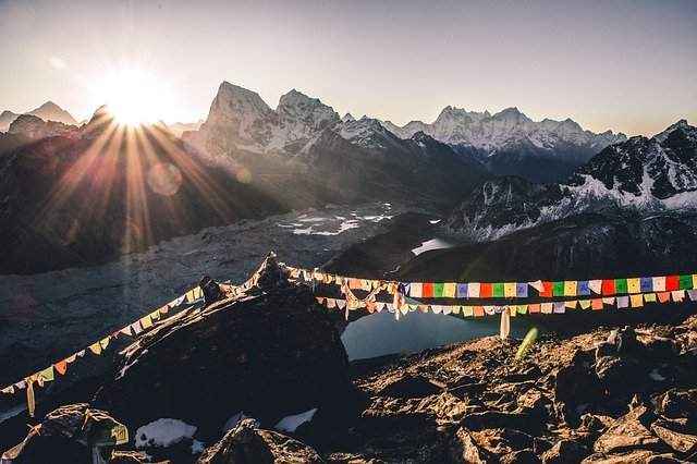 Sunrising from Himalayas in Nepal as best honeymoon destination for couples
