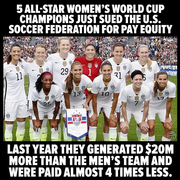4bc16eb70f1 Facebook post exaggerates discrepancy between US men s and women s soccer  teams
