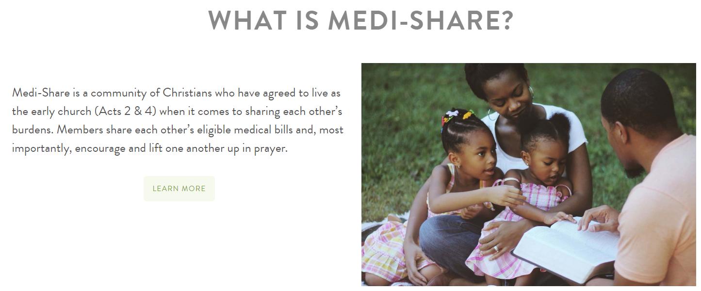 Medishare est une communauté chrétienne qui travaille ensemble pour partager le fardeau des coûts médicaux élevés.