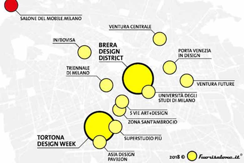 fuorisalone map of milan design districts
