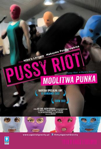 Przód ulotki filmu 'Pussy Riot. Modlitwa Punka'
