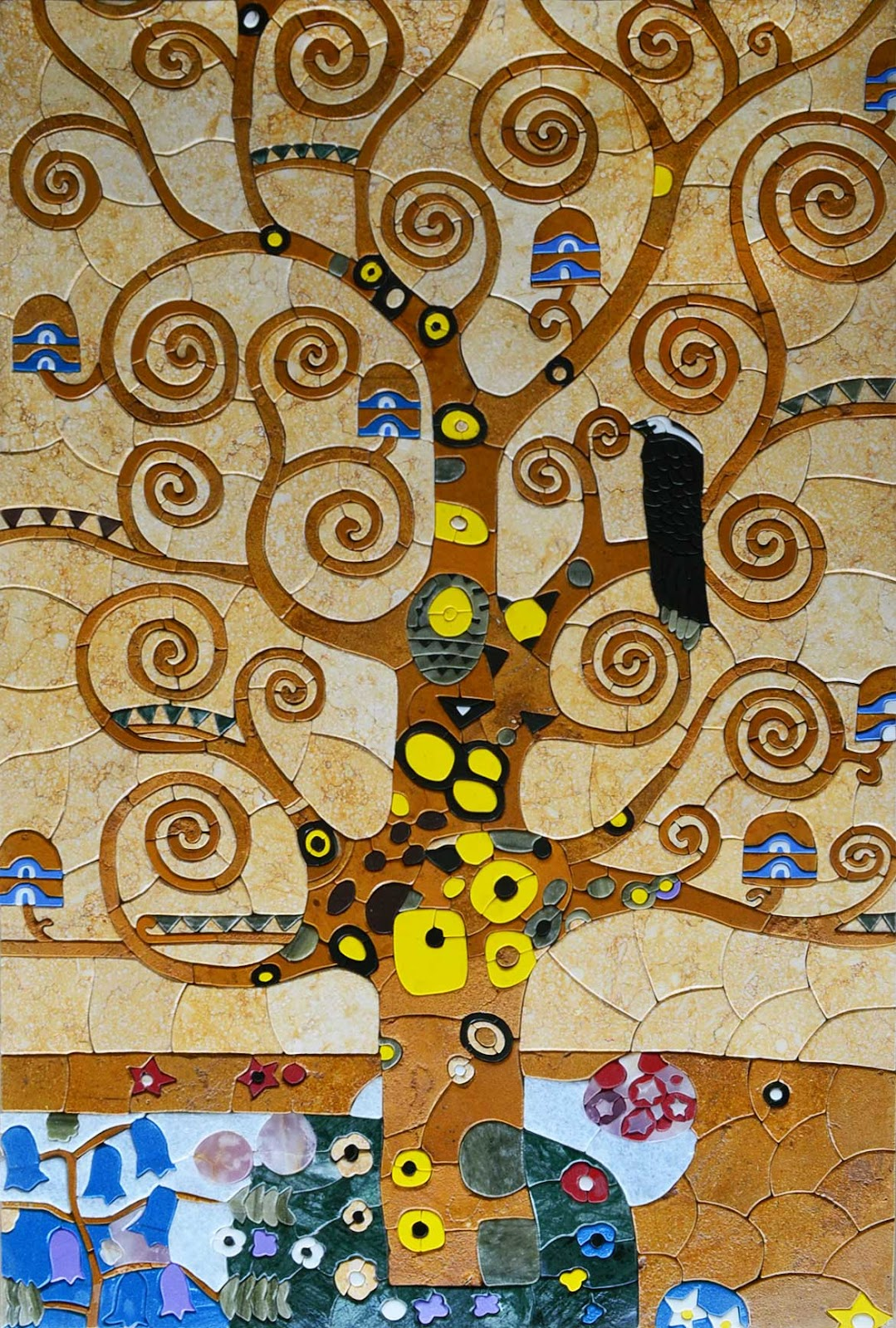 """""""The Tree of Life"""" by Klimt - Mosaic Reproduction"""