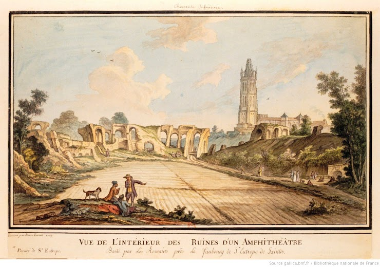 Gravure de Pierre Vincent représentant l'amphithéâtre en 1785