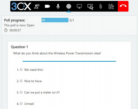 aktive Umfrage in WebMeeting