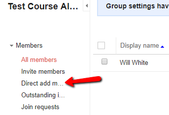 Direct Add Members