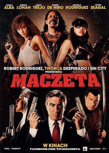 Przód ulotki filmu 'Maczeta'
