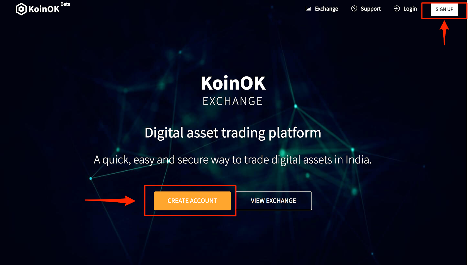 How to create Account on KoinOK
