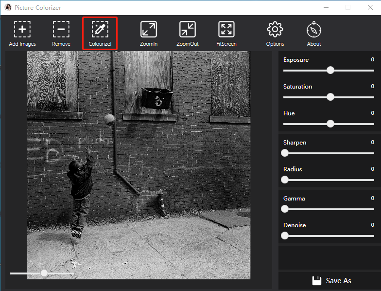 how to make pictures black and white