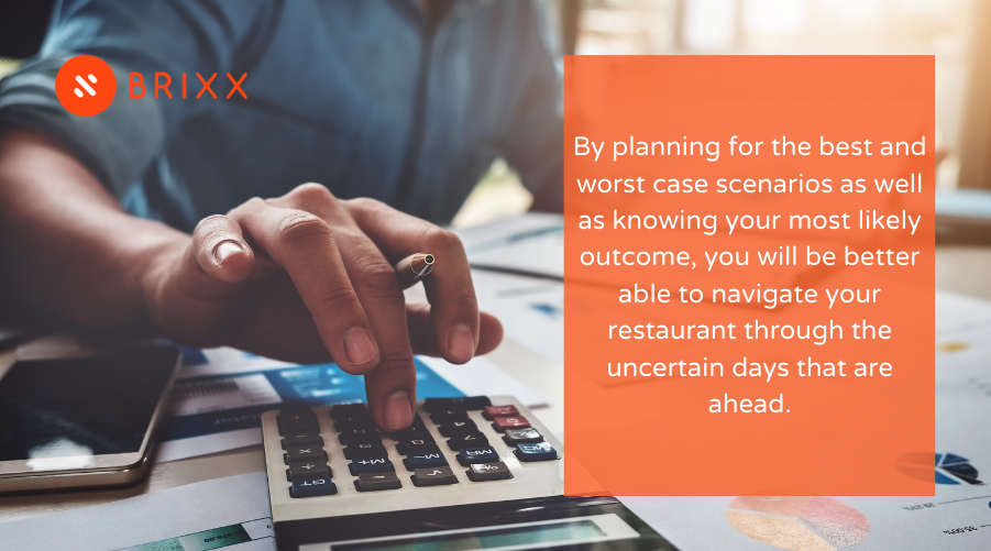 Budgeting And Financial Scenario Modelling For Restaurants blog post image of a man using a calculator
