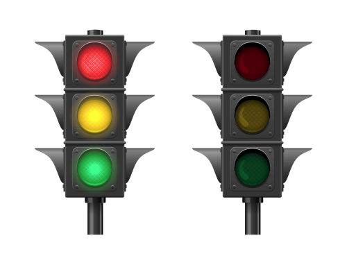 Vector Traffic lights isolated on white background. Светофор.