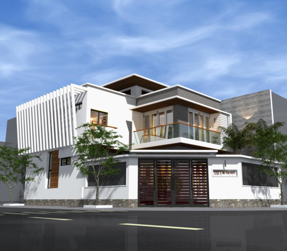 Nhà ở kết hợp kinh doanh 2 tầng có gác lửng nằm mặt đường