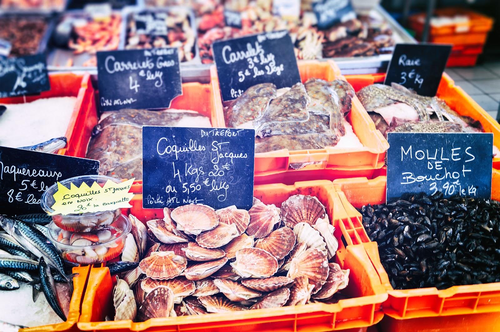 Crustacés frais du marché