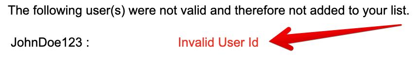 eBay buyer block error message invalid
