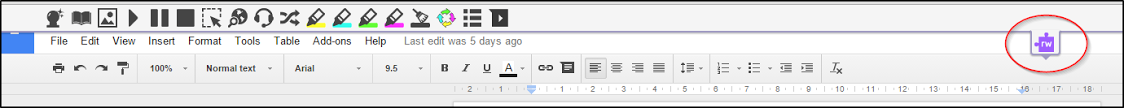 Read&Write for Google Chrome Toolbar