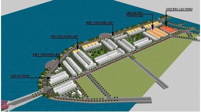 Phối cảnh 3d dự án quy hoạch đô thị Vịnh Xuân Đài