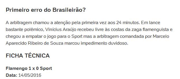 Flamengo favorecido