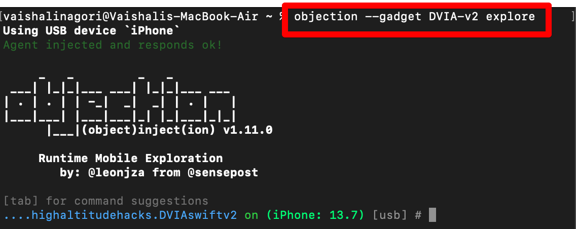 objection --gadget package_name explore