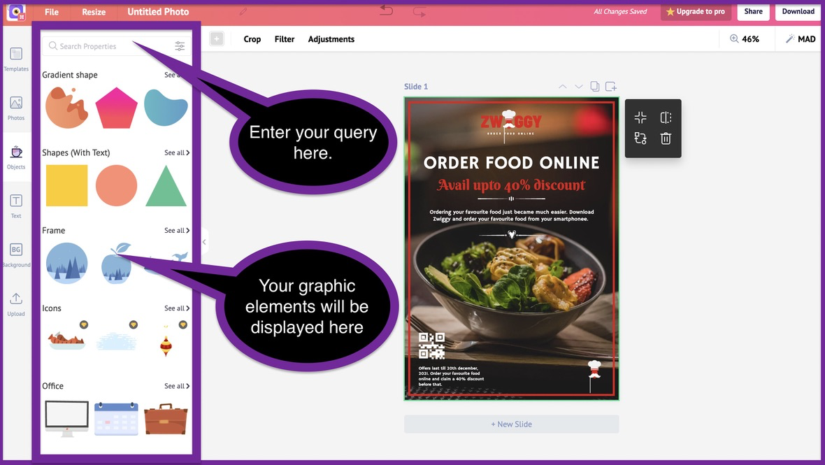 How to create a business flyer - step 5 -screenshot 1