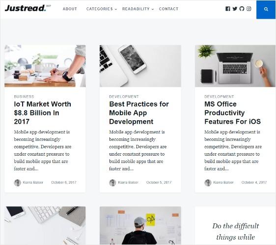 Just Read Free WordPress Theme