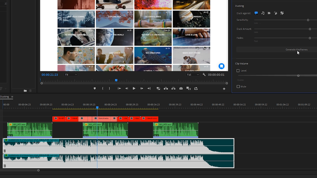 Premiere Pro - 'Essential Sound' panel automatically creates audio  keyframes across sequence