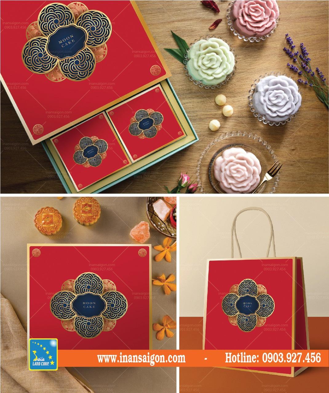 hộp bánh hoa văn cổ điển
