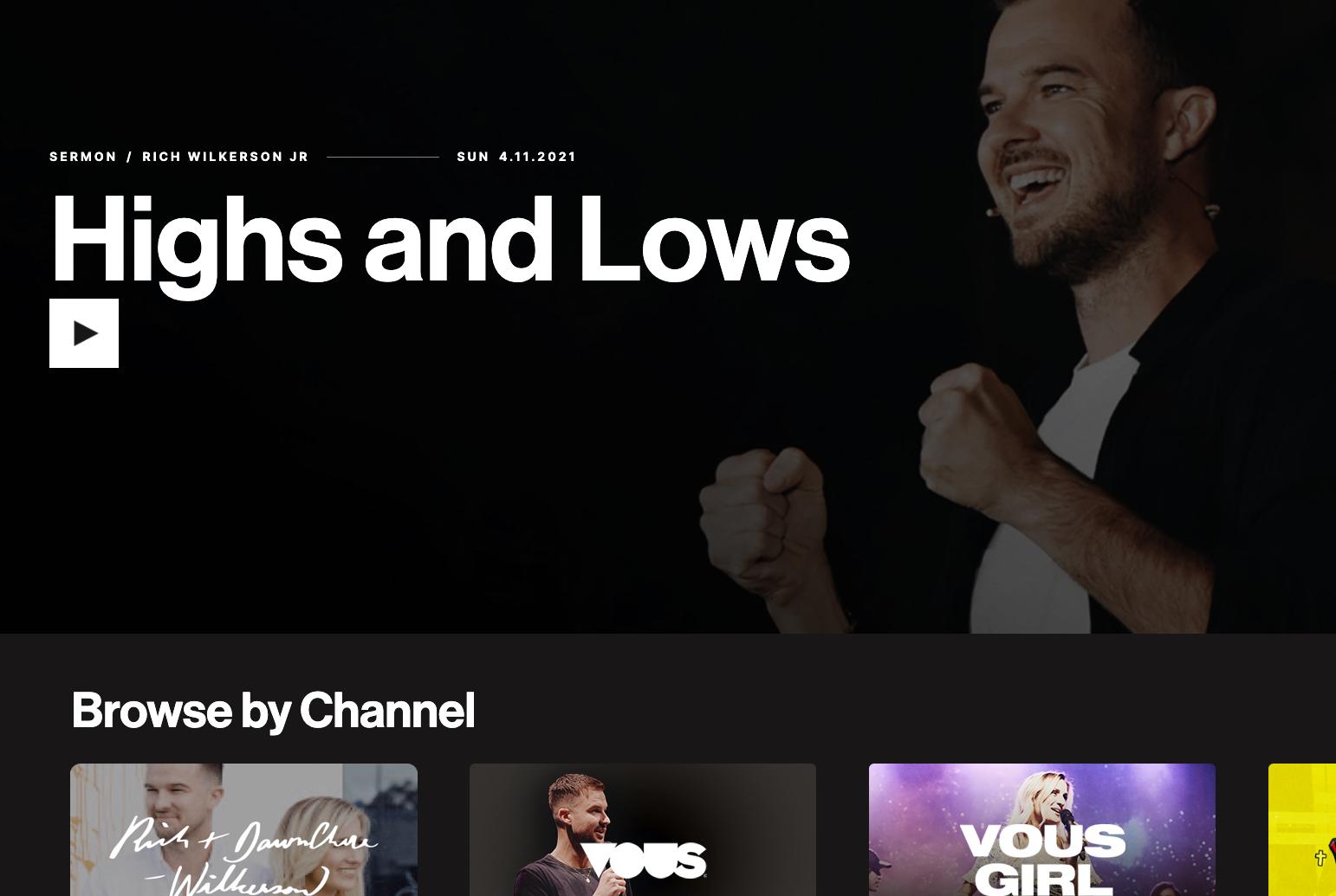 VOUS' Channel Screenshot