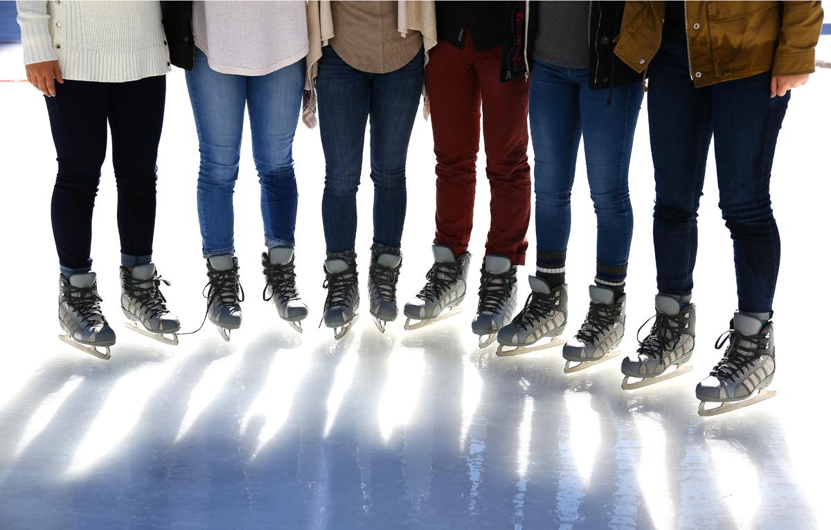 Ice skating near BART