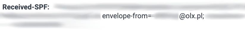 """kod źródłowy wiadomości, prawdziwy nadawca widoczny przy """"Received-SPF: oraz envelope-from="""""""