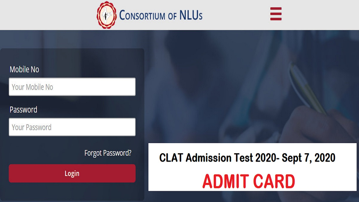 CLAT 2021 Admit Card