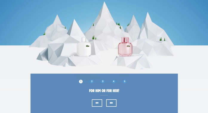 interactive landing page example