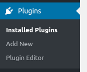 wordpress dashbord plugins options