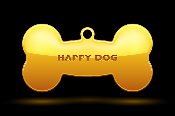 Bone for dog collar Vector Illustration
