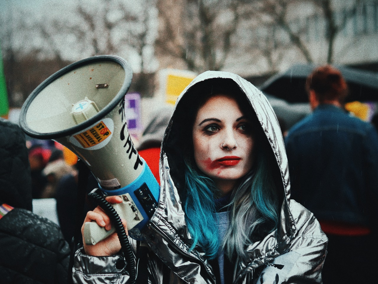 photojournalism at a protest