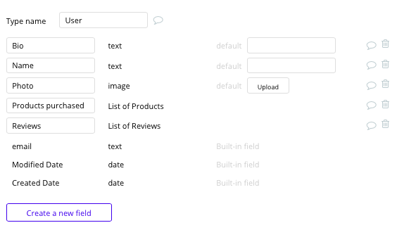 Bubble Fiverr Clone User Data Types Fields Tutorial
