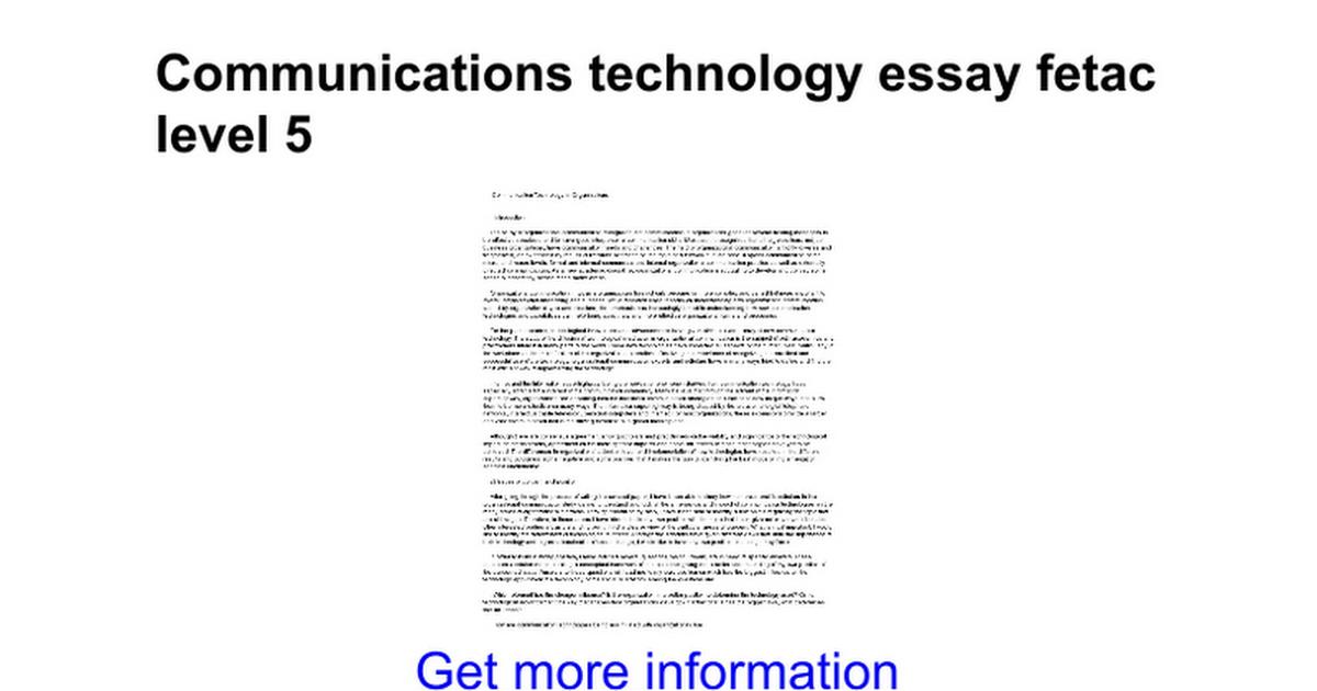 communications technology essay fetac level google docs