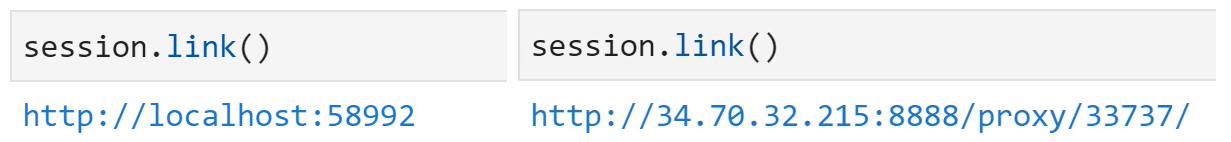 Using session.link to access the atoti web application URL