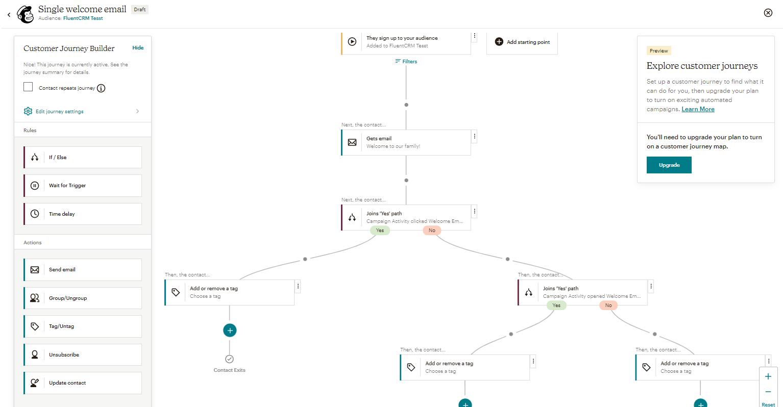 mailchimp email marketing automation builder feature