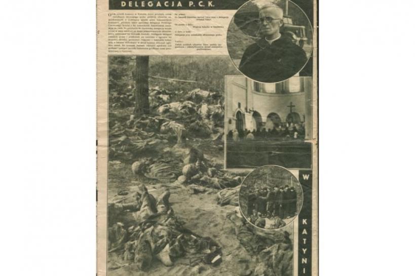 Катынь, фото в польской газете, 1943