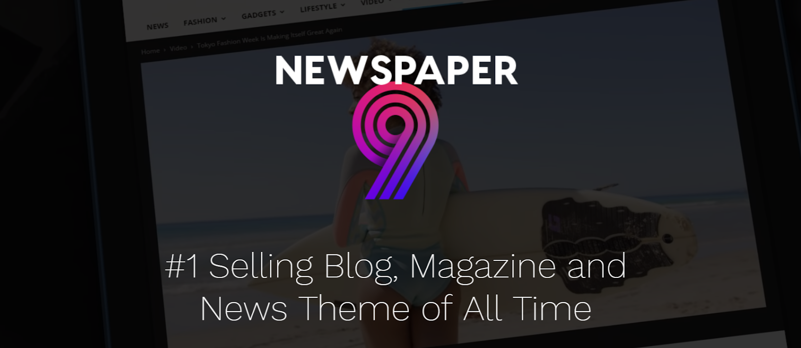 Newspaper 9 best WordPress theme