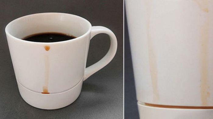 Чашка, не оставляющая разводов на столе дизайн, идея, креатив